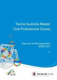 Tennis Australia Master Club Professional Course