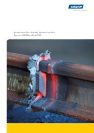 Mobile Flash Butt Welding Systems for Rails Systems ... - Schlatter