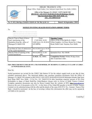 Downloaded - Delhi Transco Limited