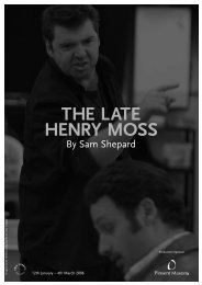 The Late Henry Moss - Almeida Theatre