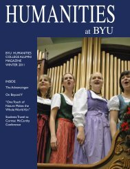 Winter 2011 2-22-11.indd - BYU Humanities - Brigham Young ...