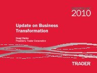 Update on Trader's Transformation - Yellow Pages Group