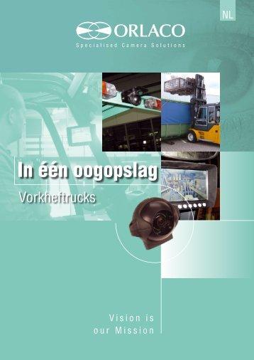 Brochure met zichtoplossingen voor vorkheftrucks