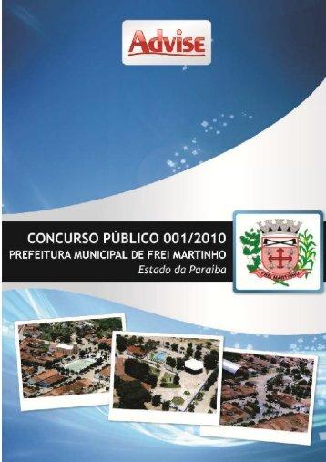 Edital - Frei Martinho - 05.08.2010 - Advise