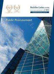 Public Procurement - CMS Ružička Csekes