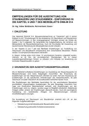 Empfehlungen für die Ausstattung von Staudämmen - Talsperren