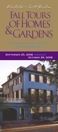 Fall Tours of Homes - Preservation Society of Charleston