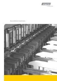 Secondhand machinery - Schlatter