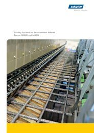 Welding Systems for Reinforcement Meshes System ... - Schlatter