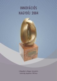 innovációs nagydíj 2004 innovációs nagydíj 2004 - Magyar ...