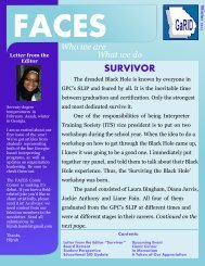 Winter Faces 2012 - Georgia Registry of Interpreters for the Deaf