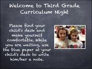 Welcome to Third Grade Curriculum Night - Solon City Schools