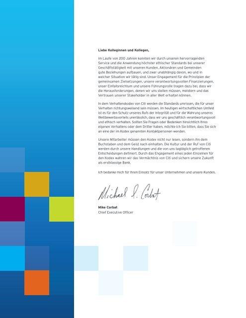 Verhaltenskodex - Citigroup