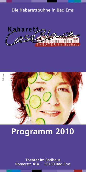 Programm 2010 - Kabarett CasaBlanca