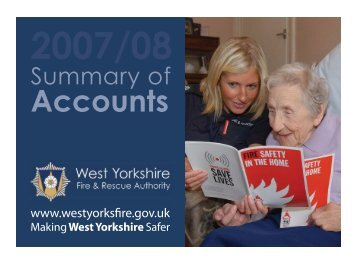Summary of Accounts 2007/08 - West Yorkshire Fire Service