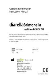 diarellaSalmonella real time PCR Kit TM - gerbion