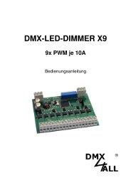 DMX-LED-DIMMER X9 - DMX4ALL GmbH