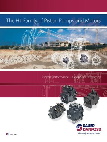 The H1 Family of Piston Pumps and Motors - Sauer-Danfoss
