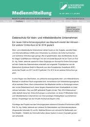 Neues Online-Schulungssystem: Datenschutz für klein - Universität ...