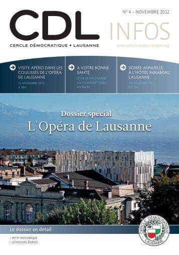 Bulletin no. 4/12 – Novembre 2012 - Cercle Démocratique Lausanne