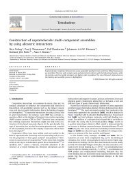 Construction of supramolecular multi-component assemblies by ...