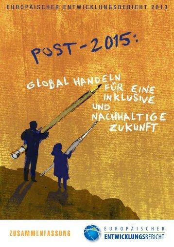 ZUSAMMENFASSUNG - European Report on Development
