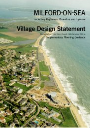 Milford-on-Sea Village Design Statement - New Forest District Council