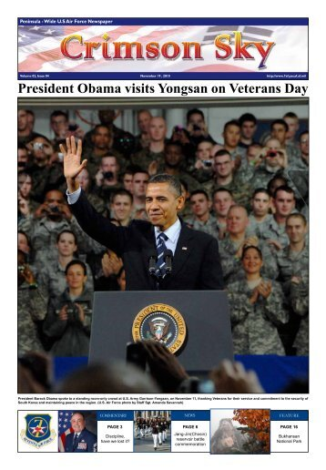 President Obama visits Yongsan on Veterans Day - 7th Air Force