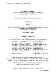 Phys/Level 2/5/11/Semester 2, 2009-10 (1 handout) - University of ...