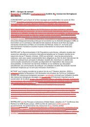 M151 – Groupe de contact Respecter lL'utilisation ... - IUCN Portals