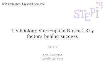 How did NTBFs boom in Korea : Key factors behind success - CPC