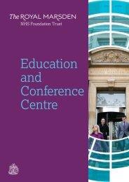 Conference Centre brochure (PDF file) - The Royal Marsden