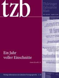 Thüringer Zahnärzteblatt 01/2004 - Zahnärzte in Thüringen