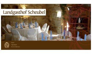 Unseren aktuellen Flyer als PDF-Datei laden - Landgasthof Scheubel