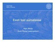 R. Minka. Eesti teel euroalasse - euro.eesti.ee