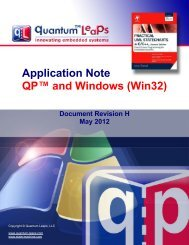 Application Note QP and Windows (Win32) - Quantum Leaps