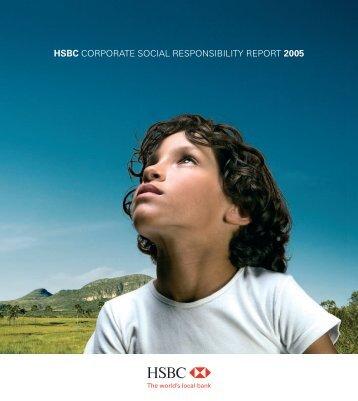 HSBC CORPORATE SOCIAL RESPONSIBILITY REPORT 2005