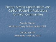 Climate Opportunities for Faith Communities - WSU Whatcom ...