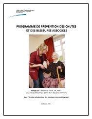 Programme de prévention des chutes et des blessures associées
