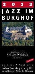 Jazz im Burghof 2012 - Hotel Schloss Waldeck am Edersee