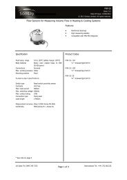 Flow Sensors for Measuring Volume Flow in Heating ... - Sontay
