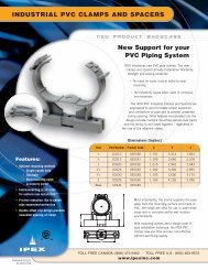 industrial pvc clamps and spacers