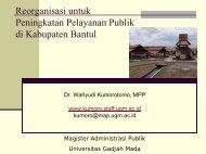 konsep dasar desentralisasi dan otonomi daerah - Kumoro.staff.ugm ...