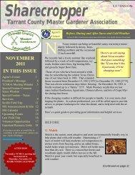 Tarrant County Master Gardener Association - Texas A&M AgriLife ...