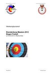 Ergebnisse des Brandenburg Masters 2012