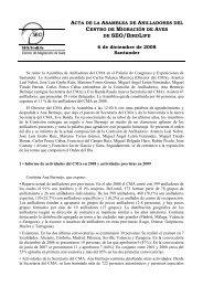Acta de la Asamblea de Anilladores del Centro de ... - SEO/BirdLife