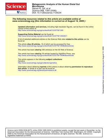 DOI: 10.1126/science.1124234 , 1355 (2006); 312 Science et al ...
