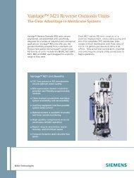 Vantage M21 Data Sheet - Siemens Water Technologies