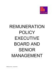 remuneration policy executive board and senior management