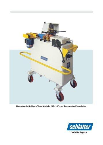 Download Catálogo Modelo AC-16 - Schlatter
